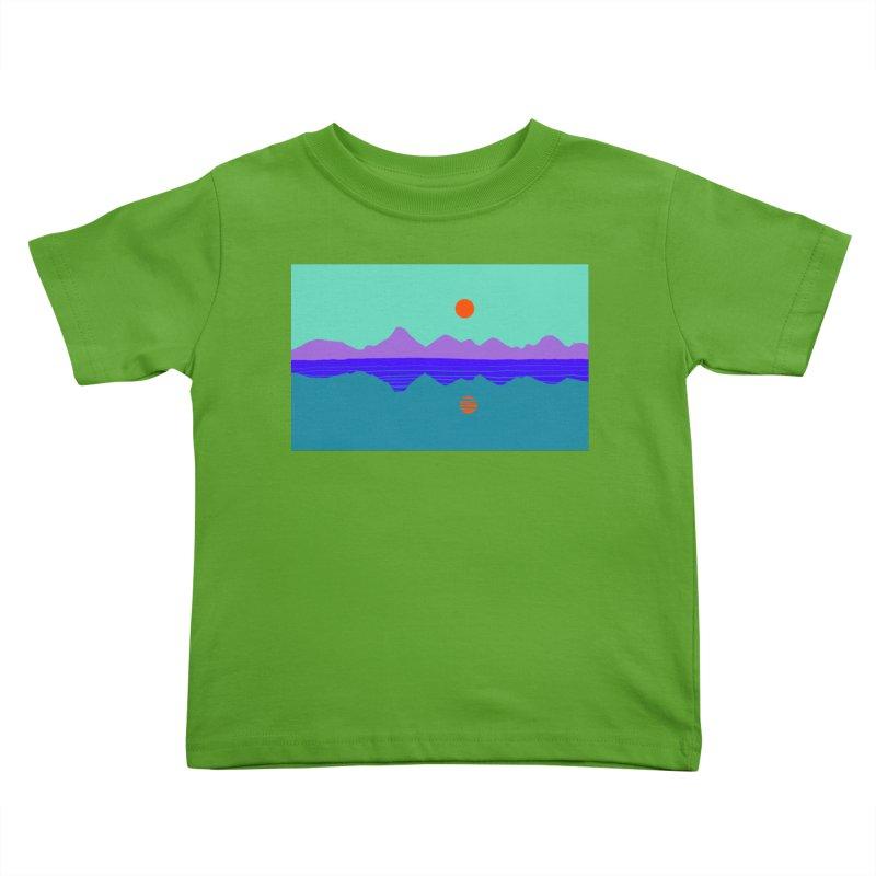 California Summer Sunset Kids Toddler T-Shirt by dasiavou's Artist Shop