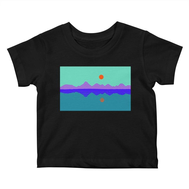 California Summer Sunset Kids Baby T-Shirt by dasiavou's Artist Shop