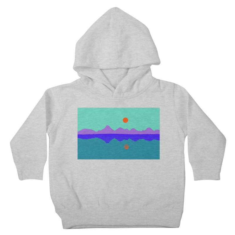 California Summer Sunset Kids Toddler Pullover Hoody by dasiavou's Artist Shop