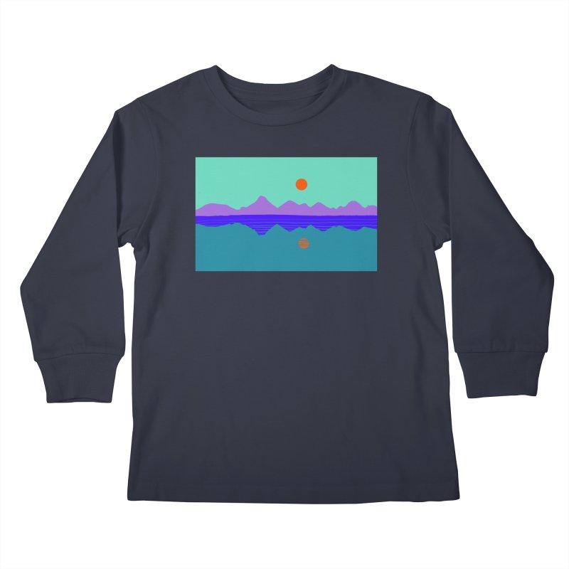 California Summer Sunset Kids Longsleeve T-Shirt by dasiavou's Artist Shop