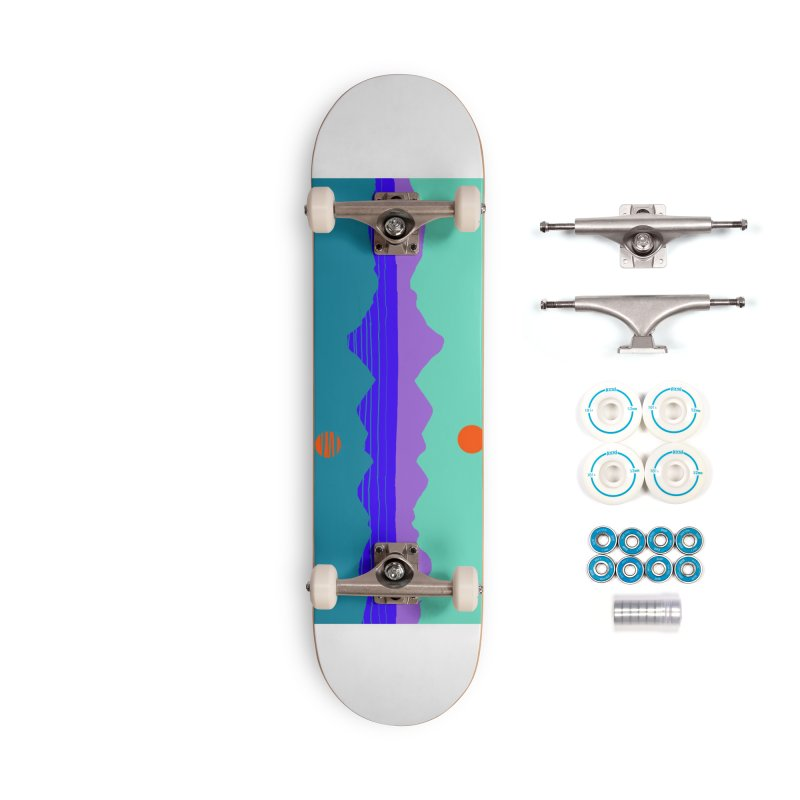 California Summer Sunset Accessories Skateboard by dasiavou's Artist Shop