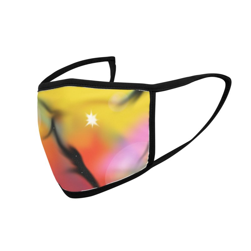 Bubble Space Accessories Face Mask by dasiavou's Artist Shop