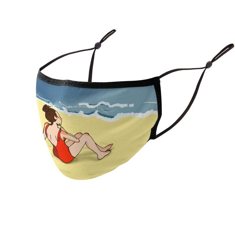 Beach Nostalgia Accessories Face Mask by dasiavou's Artist Shop