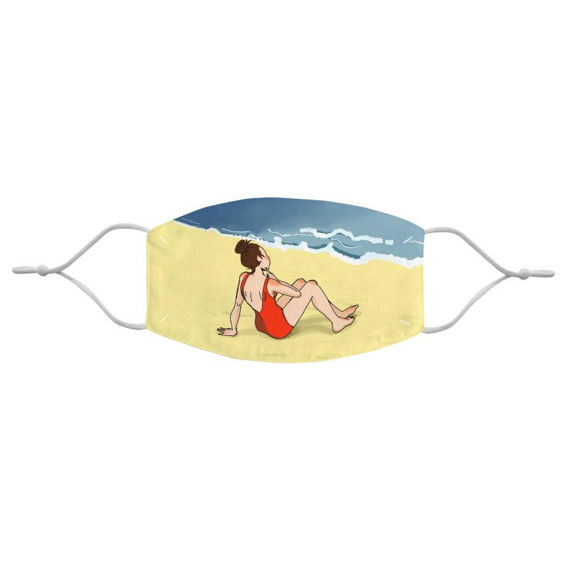 Beach Nostalgia Accessories Face Mask by dasiavou's Artist Shop