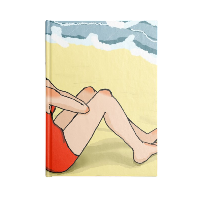 Beach Nostalgia Accessories Notebook by dasiavou's Artist Shop