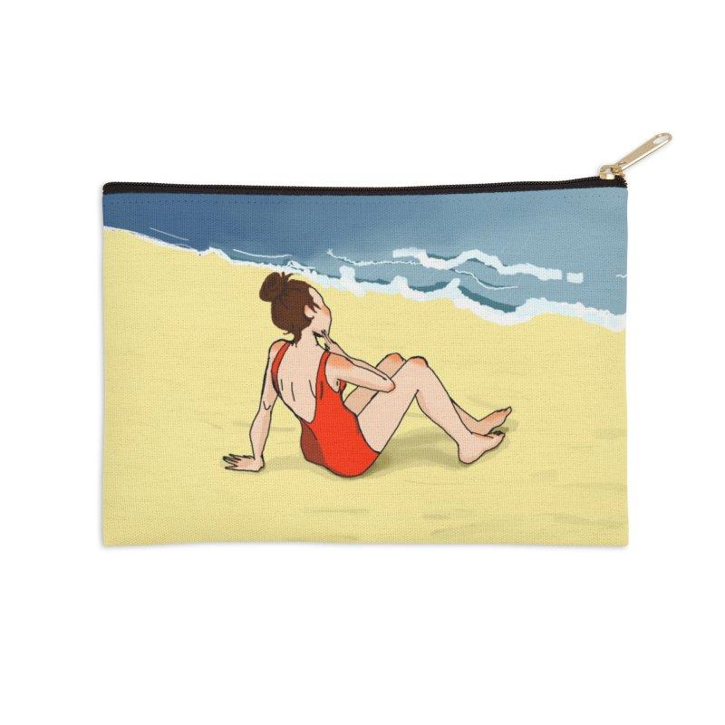 Beach Nostalgia Accessories Zip Pouch by dasiavou's Artist Shop
