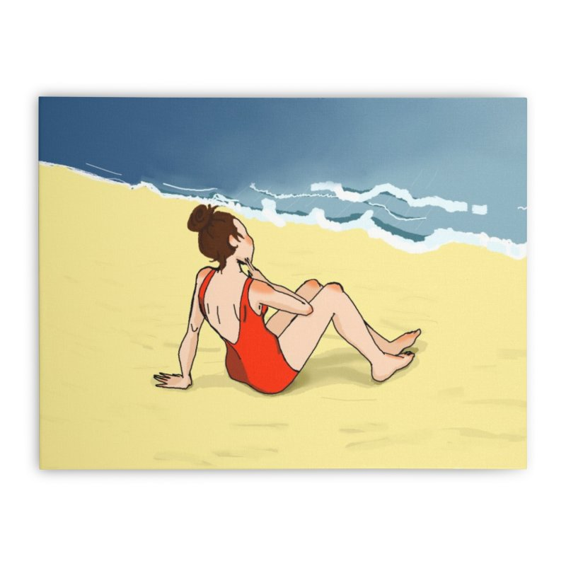 Beach Nostalgia Home Stretched Canvas by dasiavou's Artist Shop