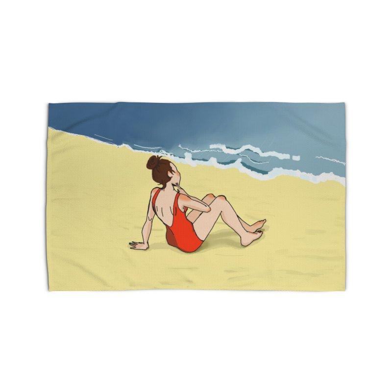 Beach Nostalgia Home Rug by dasiavou's Artist Shop