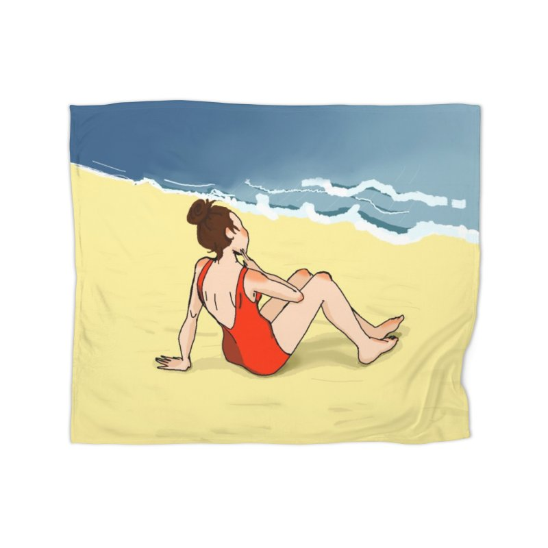 Beach Nostalgia Home Blanket by dasiavou's Artist Shop