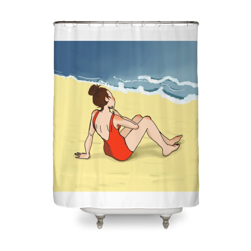 Beach Nostalgia Home Shower Curtain by dasiavou's Artist Shop