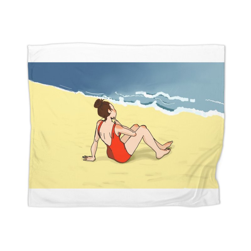 Beach Nostalgia Home Blanket by dasiavou's Artist Shop