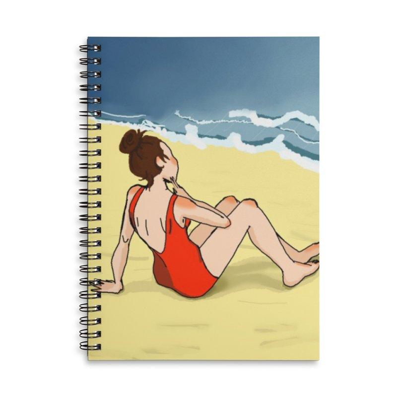 Beach Nostalgia Accessories Notebook by dasiavou's Artist Shop