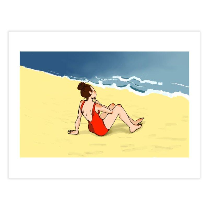 Beach Nostalgia Home Fine Art Print by dasiavou's Artist Shop