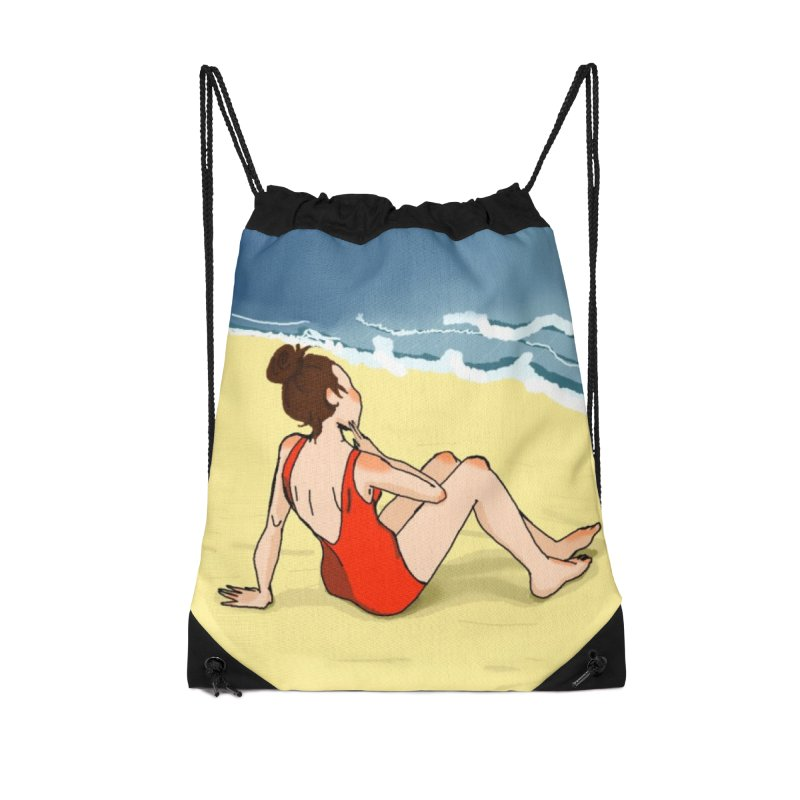 Beach Nostalgia Accessories Bag by dasiavou's Artist Shop