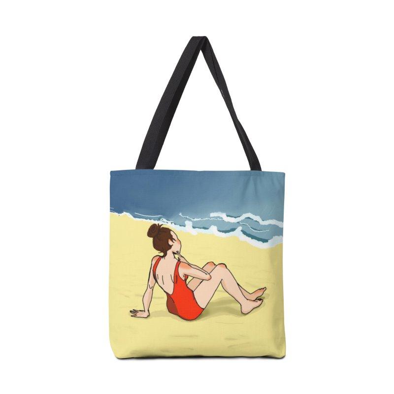 Beach Nostalgia Accessories Bag by dasiavou's Artist Shop