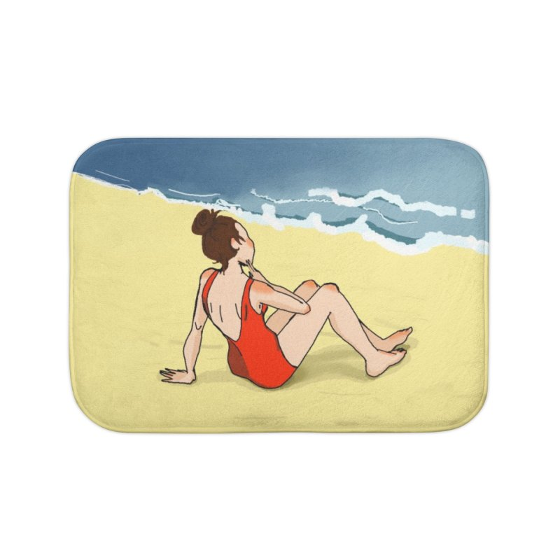 Beach Nostalgia Home Bath Mat by dasiavou's Artist Shop