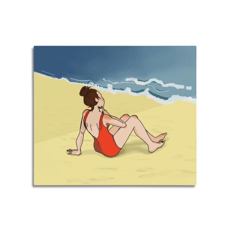 Beach Nostalgia Home Mounted Acrylic Print by dasiavou's Artist Shop