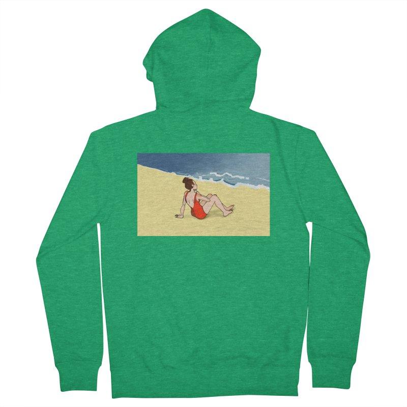 Beach Nostalgia Women's Zip-Up Hoody by dasiavou's Artist Shop