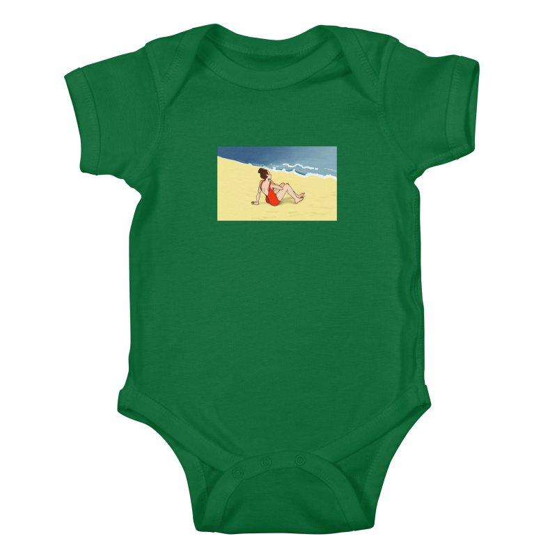 Beach Nostalgia Kids Baby Bodysuit by dasiavou's Artist Shop