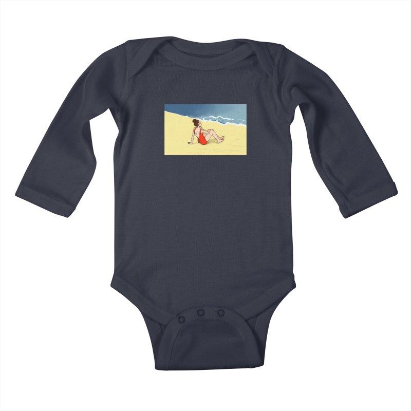Beach Nostalgia Kids Baby Longsleeve Bodysuit by dasiavou's Artist Shop