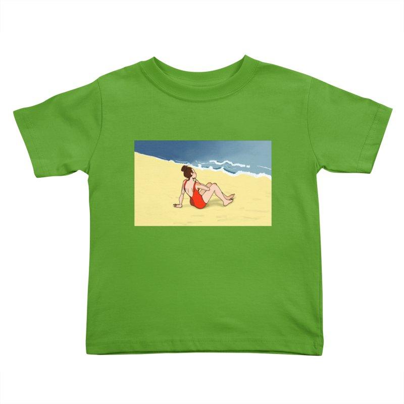 Beach Nostalgia Kids Toddler T-Shirt by dasiavou's Artist Shop