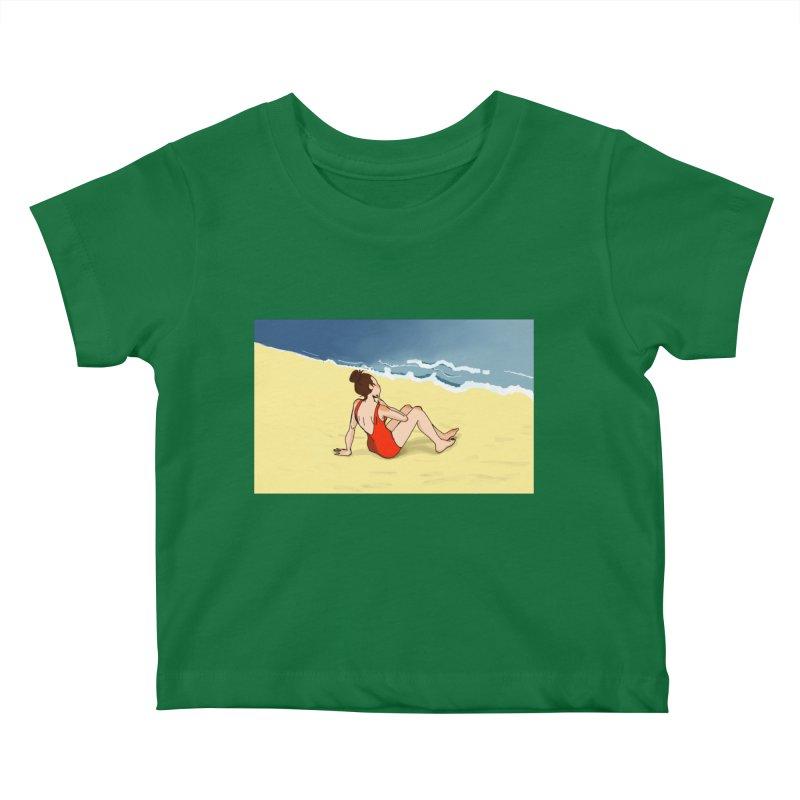Beach Nostalgia Kids Baby T-Shirt by dasiavou's Artist Shop