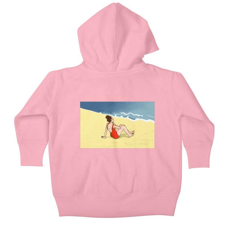 Beach Nostalgia Kids Baby Zip-Up Hoody by dasiavou's Artist Shop