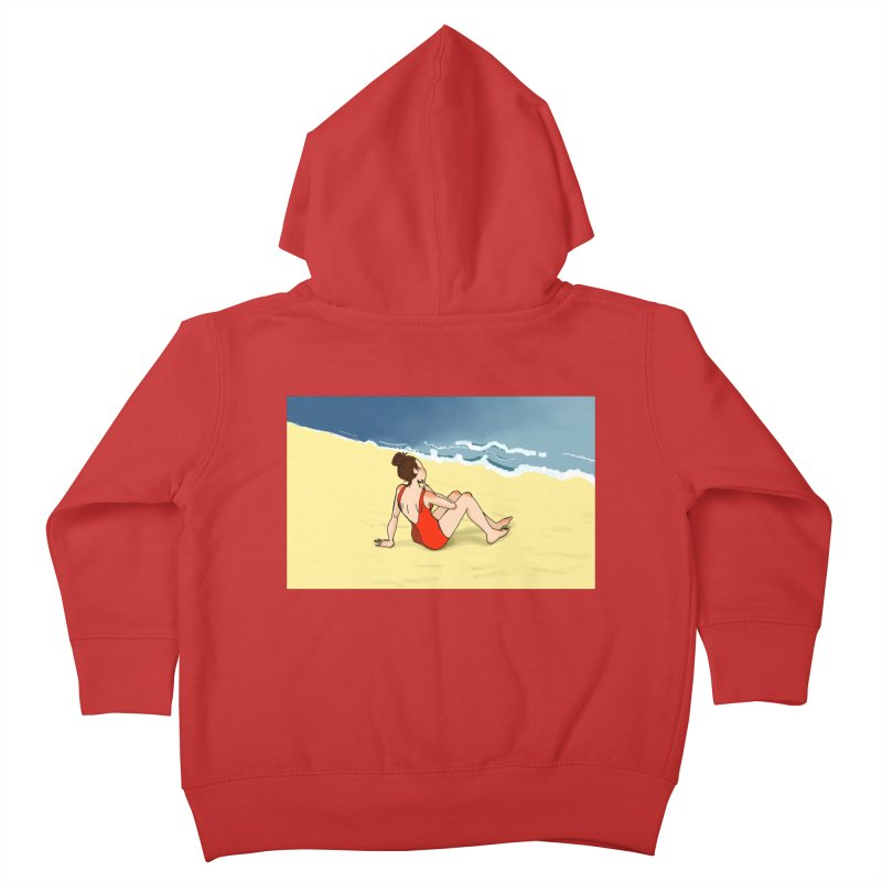 Beach Nostalgia Kids Toddler Zip-Up Hoody by dasiavou's Artist Shop