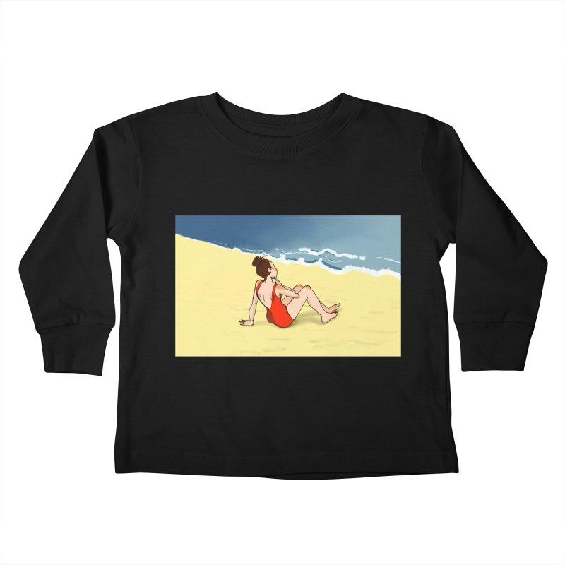Beach Nostalgia Kids Toddler Longsleeve T-Shirt by dasiavou's Artist Shop