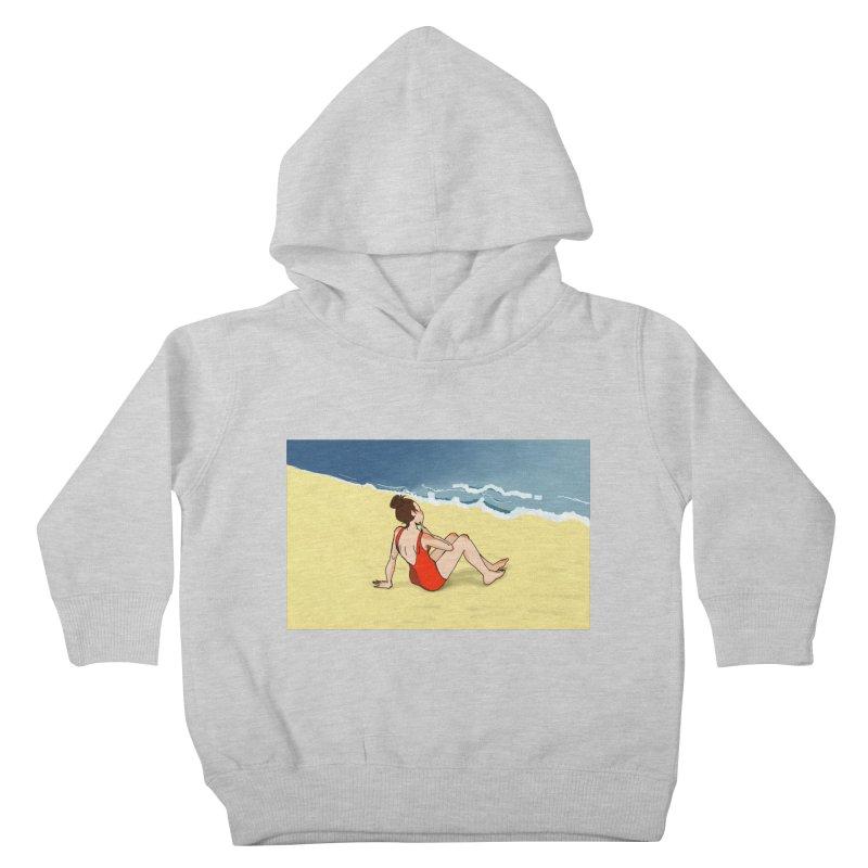 Beach Nostalgia Kids Toddler Pullover Hoody by dasiavou's Artist Shop