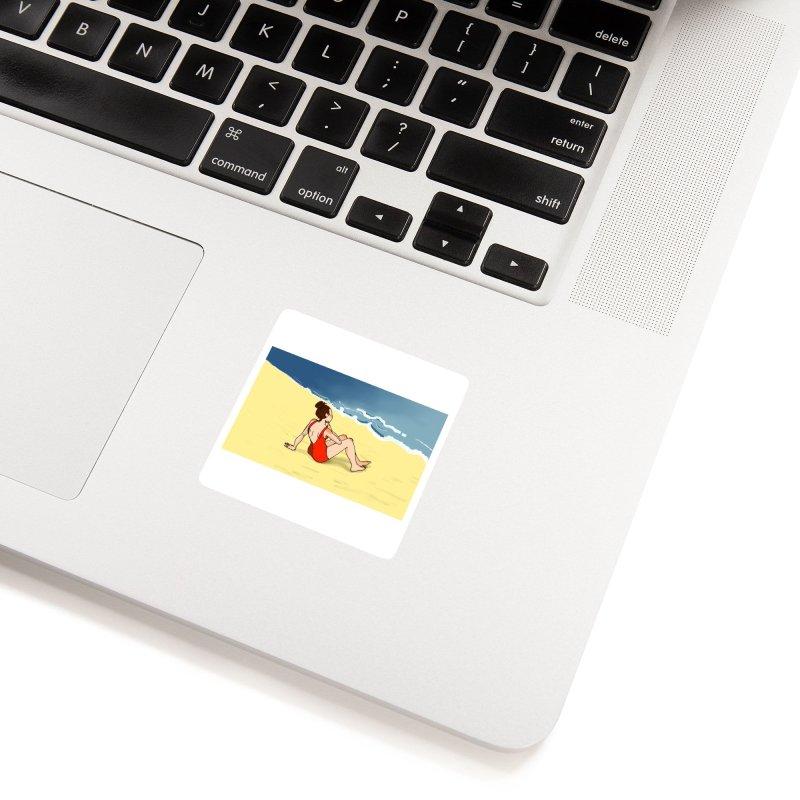 Beach Nostalgia Accessories Sticker by dasiavou's Artist Shop