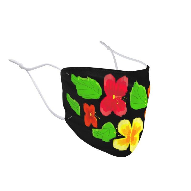 Retro Hibiscus Accessories Face Mask by dasiavou's Artist Shop