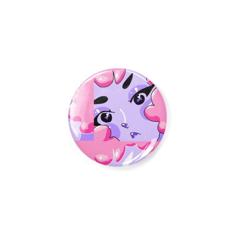 Bubble Girl Accessories Button by dasiavou's Artist Shop