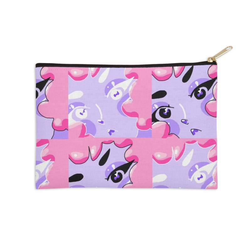 Bubble Girl Accessories Zip Pouch by dasiavou's Artist Shop
