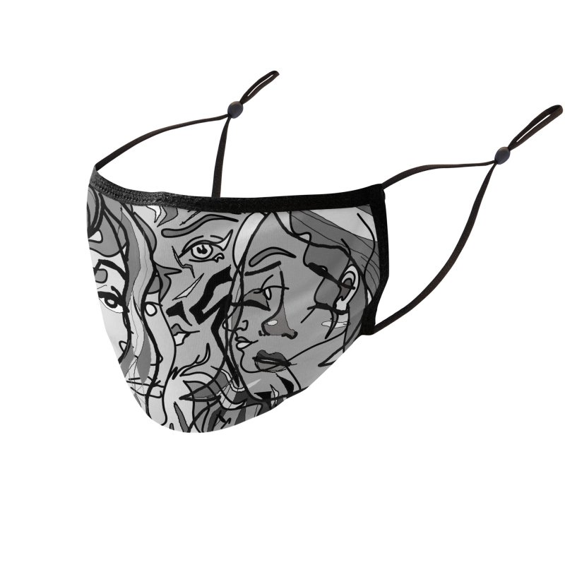 Chaotic Accessories Face Mask by dasiavou's Artist Shop
