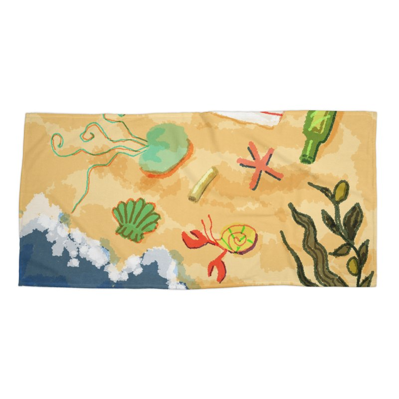 Sand n' Surf Accessories Beach Towel by dasiavou's Artist Shop