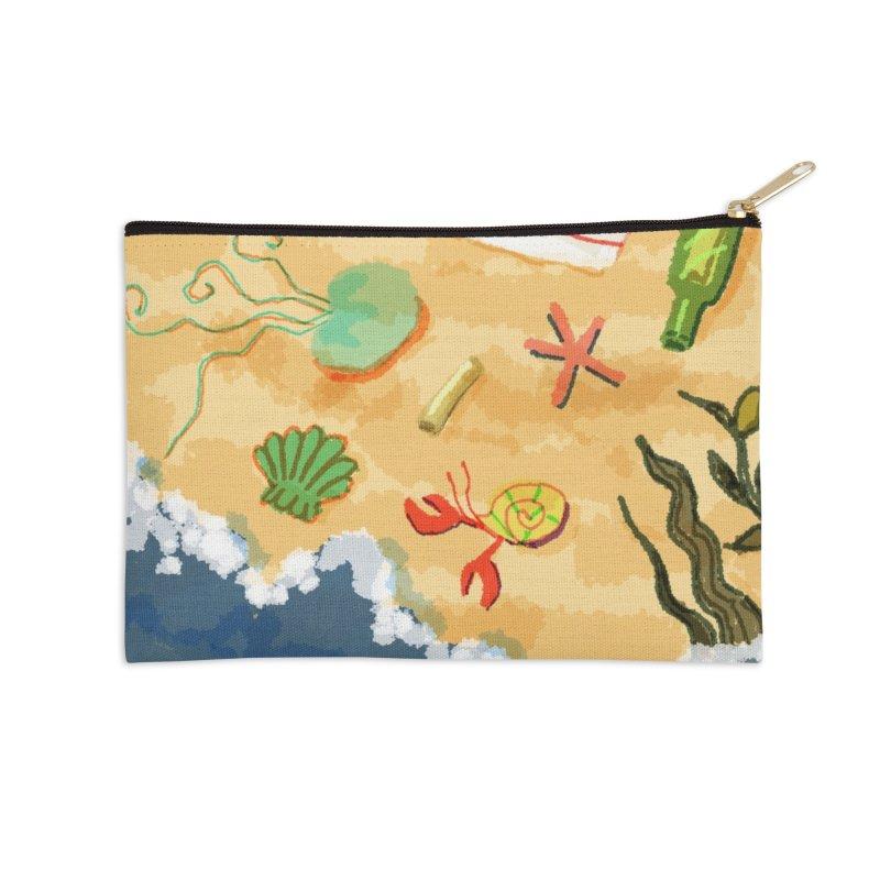 Sand n' Surf Accessories Zip Pouch by dasiavou's Artist Shop