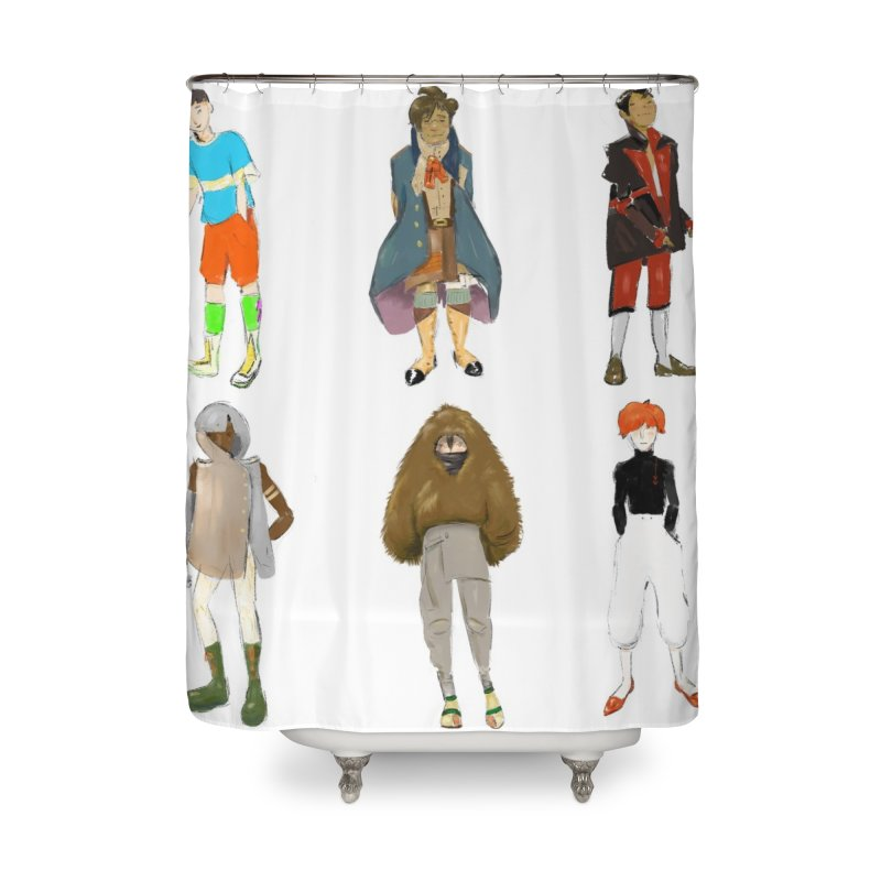 But Make It Fashion, Boys Home Shower Curtain by dasiavou's Artist Shop