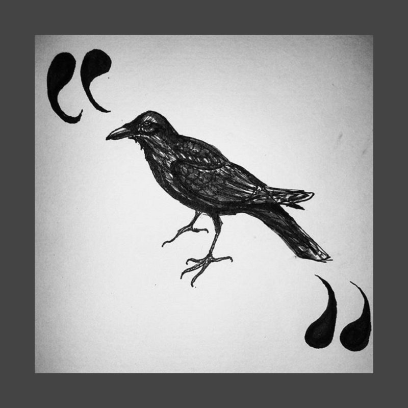 Quoth the Raven Women's Longsleeve T-Shirt by dasiavou's Artist Shop