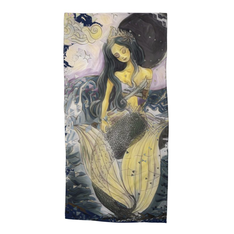 Mermaid Moon Accessories Beach Towel by dasiavou's Artist Shop