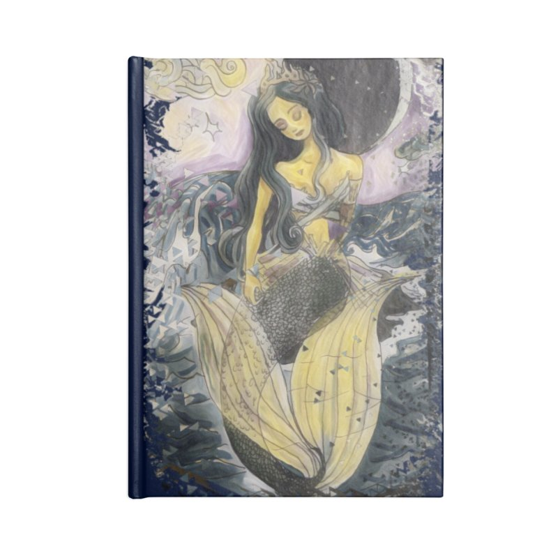 Mermaid Moon Accessories Notebook by dasiavou's Artist Shop