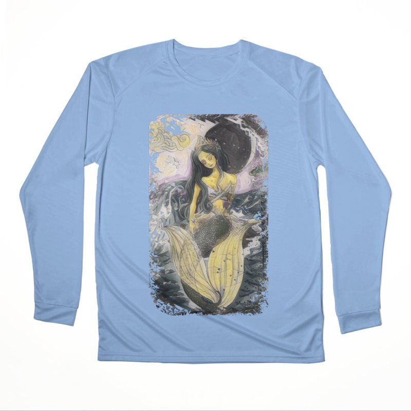 Mermaid Moon Men's Longsleeve T-Shirt by dasiavou's Artist Shop
