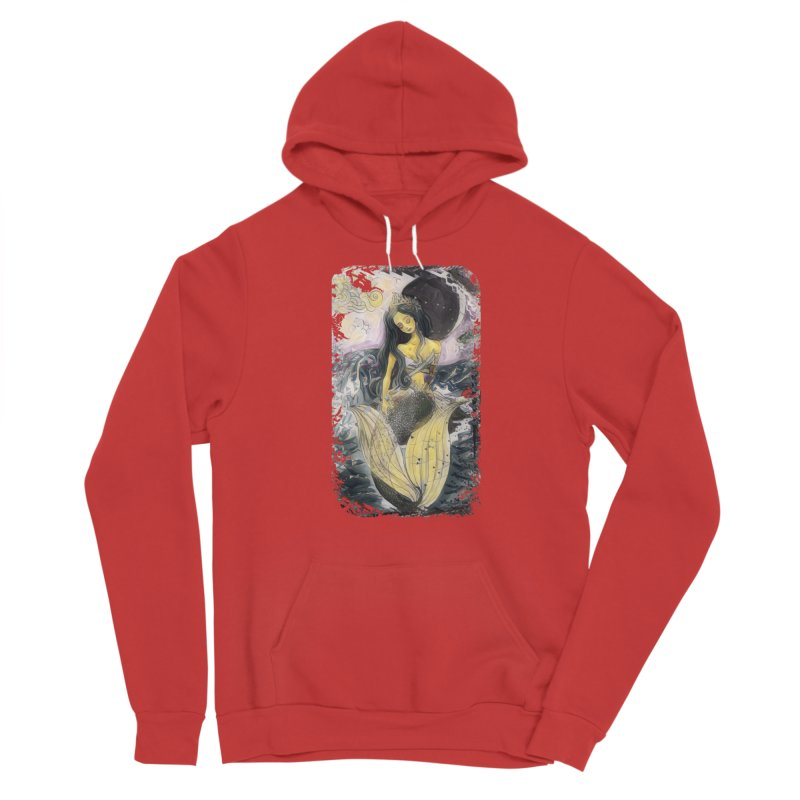 Mermaid Moon Women's Pullover Hoody by dasiavou's Artist Shop