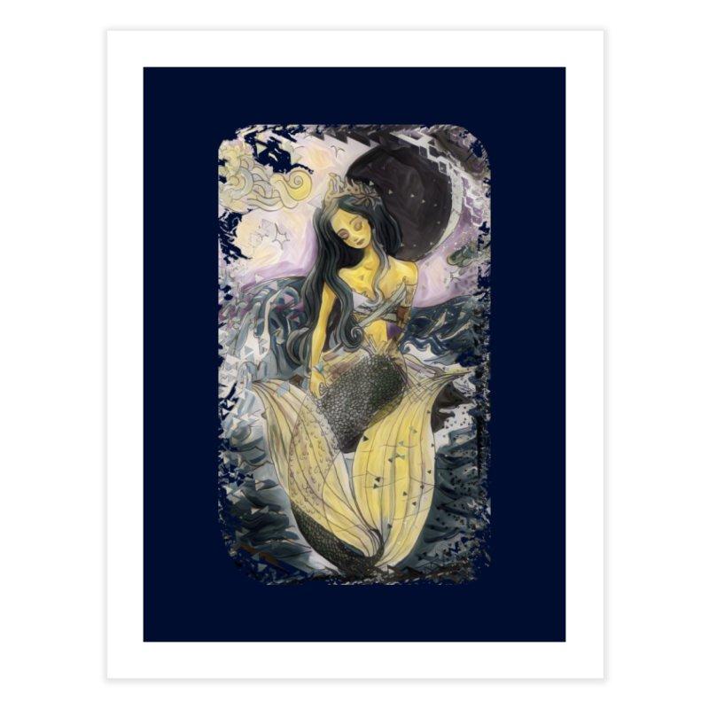 Mermaid Moon Home Fine Art Print by dasiavou's Artist Shop