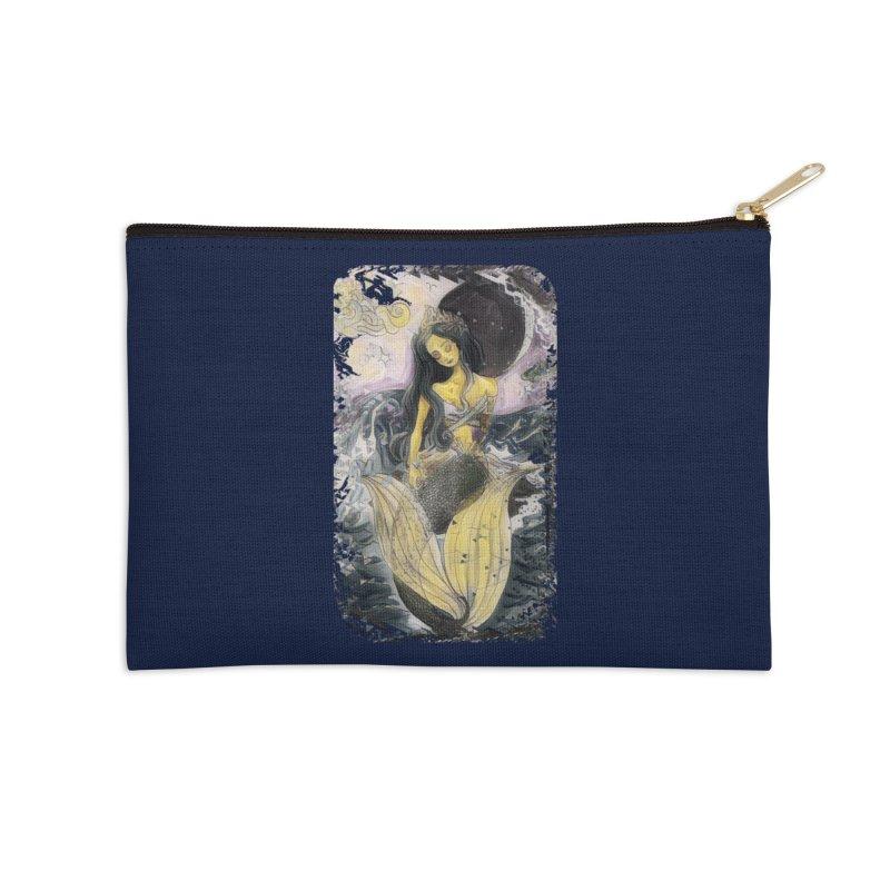 Mermaid Moon Accessories Zip Pouch by dasiavou's Artist Shop