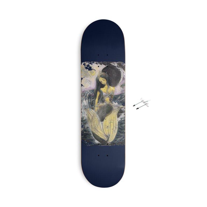 Mermaid Moon Accessories Skateboard by dasiavou's Artist Shop