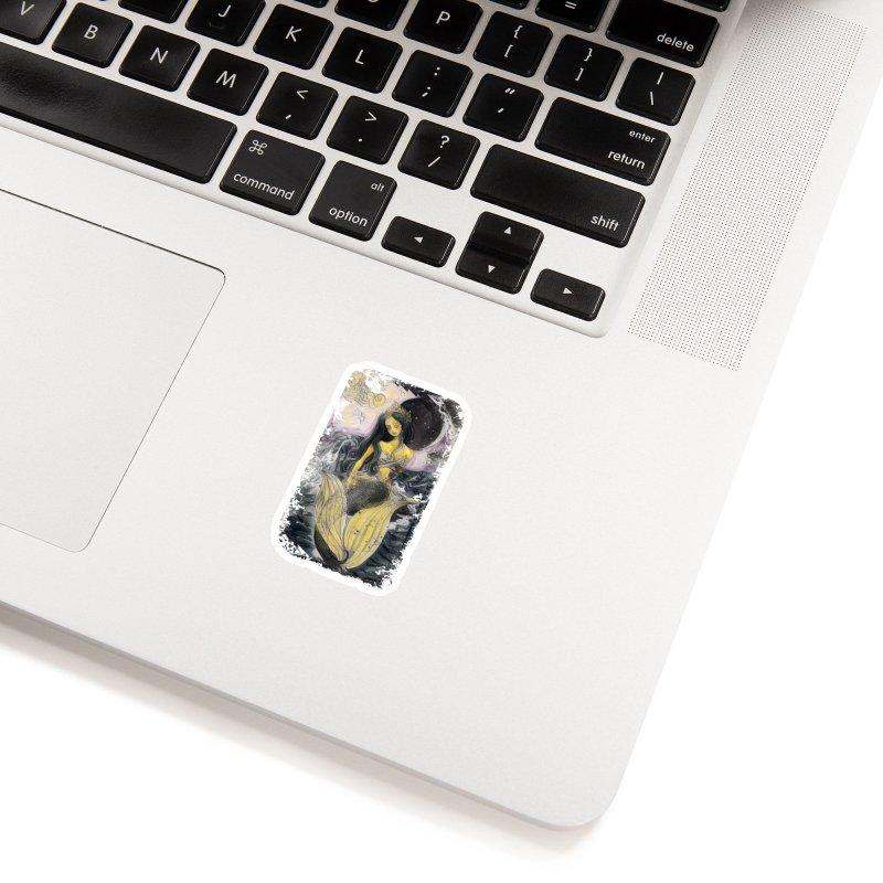Mermaid Moon Accessories Sticker by dasiavou's Artist Shop
