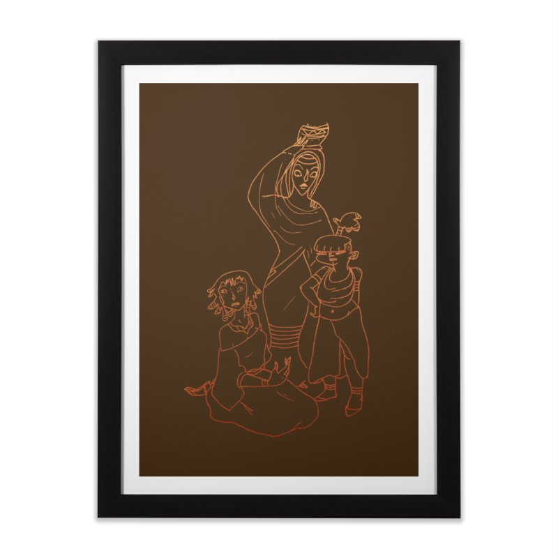 Amuse Us Home Framed Fine Art Print by dasiavou's Artist Shop