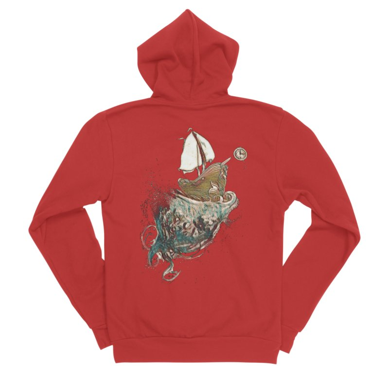 Straight On Till Morning Women's Zip-Up Hoody by dasiavou's Artist Shop