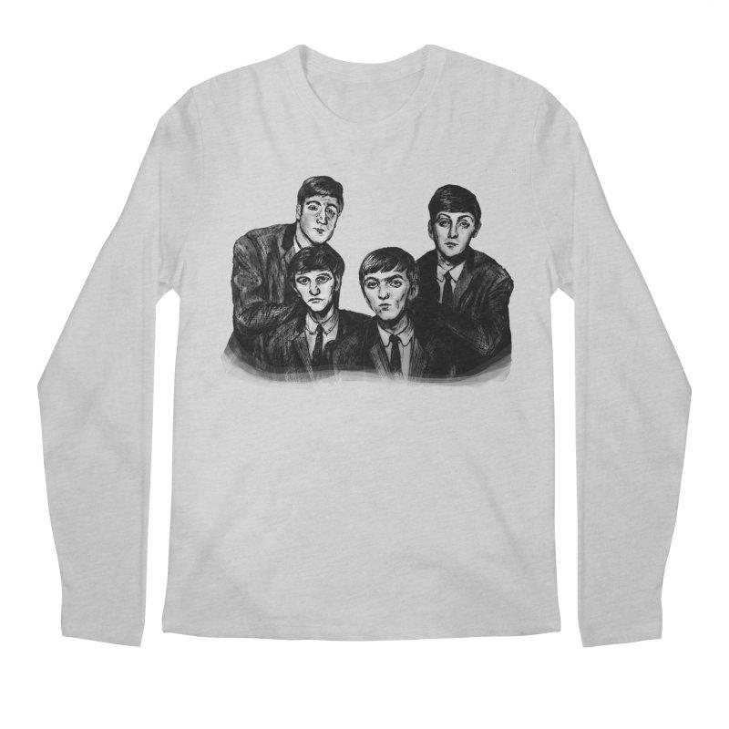 A Little Help From My Friends Men's Longsleeve T-Shirt by dasiavou's Artist Shop